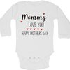 Mommy, I love you, Happy Mothers Day baby grow by BTSN Design (Pty)LTD