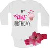 My first birthday baby grow & Headband combo by BTSN Design (Pty)LTD