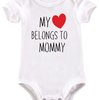 My heart belongs to Mommy baby grow  by BTSN Design (Pty)LTD