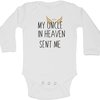 My Uncle in heaven sent me baby grow by BTSN Design (Pty)LTD
