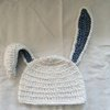 Crochet bunny beanie in cotton and bamboo (kid sizes) by Buglets by Barbs