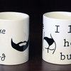 His & Her Mug set Beard&Butt by Studio J Printing Things
