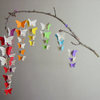 Butterfly Baby Mobile - Rainbow Colours with Upcycled Sheet Music by younghearts