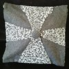 Grey Paisley patterned scatter cushions by Simply Ellie