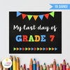 Last Day of School Chalkboard Sign Pack, Boy, Reusable, Back to School, Printable, First Day Photo Prop, 1st Day by EyePop Designs