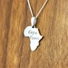 "Sterling Silver African frame with ""Cape Town"" engraved by UMOYA"
