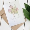 Vintage protea greeting card by Timeless Memories
