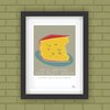 Wall Art Graphic Poster Modern Art Food Cheese Quote Age South African Colourful  by Owling South Africa