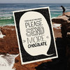 """Send more Chocolate"" card by Tatjana Buisson Design/ Illustration"