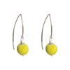 Citrine Yellow Silk Silver Marquise Earrings by Dorus Mhor