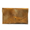 Gold leather clutch by MAEVE