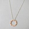 Copper Circle Pendant with I texture by Liwo Design