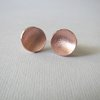 Copper Matt Centre Dome Stud Earrings by Liwo Design