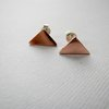 Copper Triangle Stud Earrings by Liwo Design