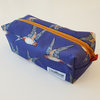 Box zip bag ~ Swallows by CoralBloom Studio