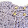 Handmade crochet cardigan, 3-6 months by Croshka Designs
