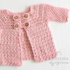 Handmade crochet baby cardigan 0-3 months by Croshka Designs