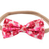 SET of 2 Handmade Fabric Bow Headbands On Nylon Elastic - choose colors! by Croshka Designs