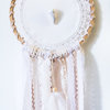 Crochet Dreamcatcher with Botswana Agate Gemstone – 21cm Hoop by Venus and the Hare