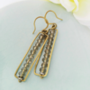 Crystal and Brass Earrings by Chilli Pip Designs