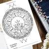"""Crystalline Inspired"" Mandala Adult Colouring Page by MandalaliciousZA"
