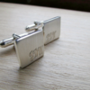 Cufflinks with corner engraving by thula