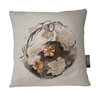 Nasturtium Flowers Illustrated Cushion Cover | Flora White Botanicals by LindnrCo