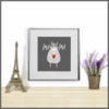 Cute Animals Set of 4 Love Prints/Posters/Wall Art by The Art of Creativity Studio