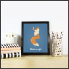 Cute Foxes Set of 3 Posters/Prints/Wall Art by The Art of Creativity Studio
