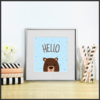 Hello Card and Print Set by The Art of Creativity Studio