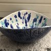 Blue Turq Lace Speckled Bowl by Clay Creations 56 - Handmade Pottery