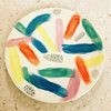 Colourful Brushstrokes Round Plate by Clay Creations 56 - Handmade Pottery