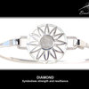 Sterling Silver BradDaShey bangle with interchangeable face piece April by Havilah Designer Jewellers