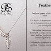 Pretty Silver Feather Necklace by Havilah Designer Jewellers