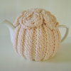 Hand Knitted Tea Cozy. Medium Teapot Cover. by Fiddlesticks