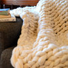 Luxury Throw in Stockinette Stitch - Large by Feathered Fox