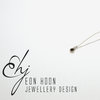 Sterling Silver tube set Smokey Quartz necklace by Eon Hoon Jewellery Design