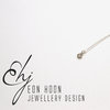 Sterling Silver tube set Morganite necklace by Eon Hoon Jewellery Design