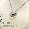 Cracked Heart Necklace #1 by Eon Hoon Jewellery Design