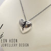 Cracked Heart Necklace #3 by Eon Hoon Jewellery Design