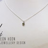 Sterling Silver tube set green Tourmaline necklace by Eon Hoon Jewellery Design