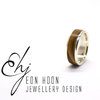 Sterling Silver band with Olive wood Inlay by Eon Hoon Jewellery Design