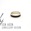 Sterling Silver band with African blackwood Inlay by Eon Hoon Jewellery Design