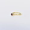 Garnet tube ring - Small by Gold&I