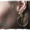 Oval and Circle large stud earrings by Natasha Wood Jewellery