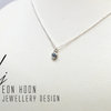 Sterling Silver tube set blue Topaz necklace by Eon Hoon Jewellery Design