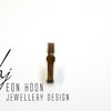 Sterling Silver Square Olive Wood Ring by Eon Hoon Jewellery Design