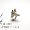 Sterling Silver Unicorn Ring by Eon Hoon Jewellery Design