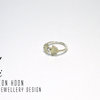 White Sapphire Art Nouvea Ring by Eon Hoon Jewellery Design
