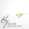 Yellow Gold plated Baby Wishbone Necklace by Eon Hoon Jewellery Design
